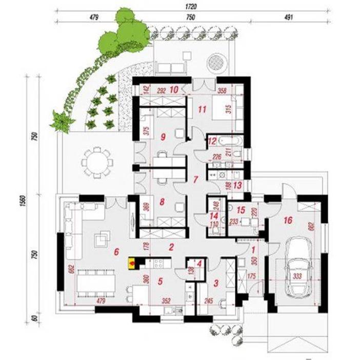 các mẫu nhà vườn 1 tầng hiện đại