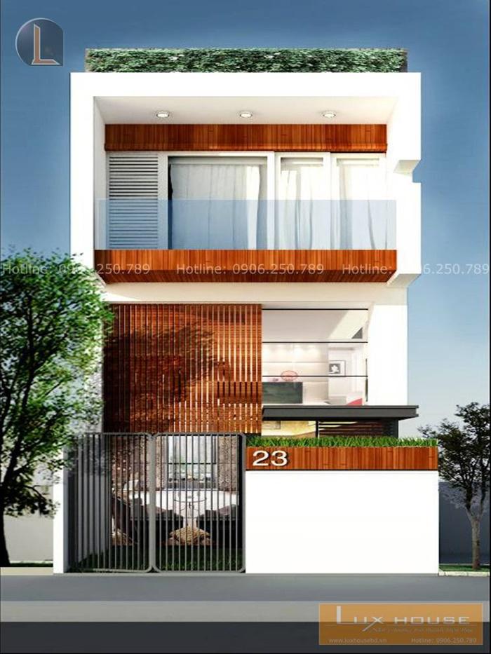 mẫu nhà mặt tiền 5m 3 tầng
