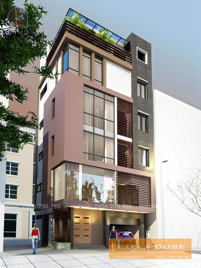 mẫu nhà phố 6 tầng đẹp