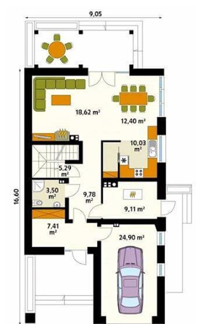 mẫu thiết kế nhà vườn 1 tầng