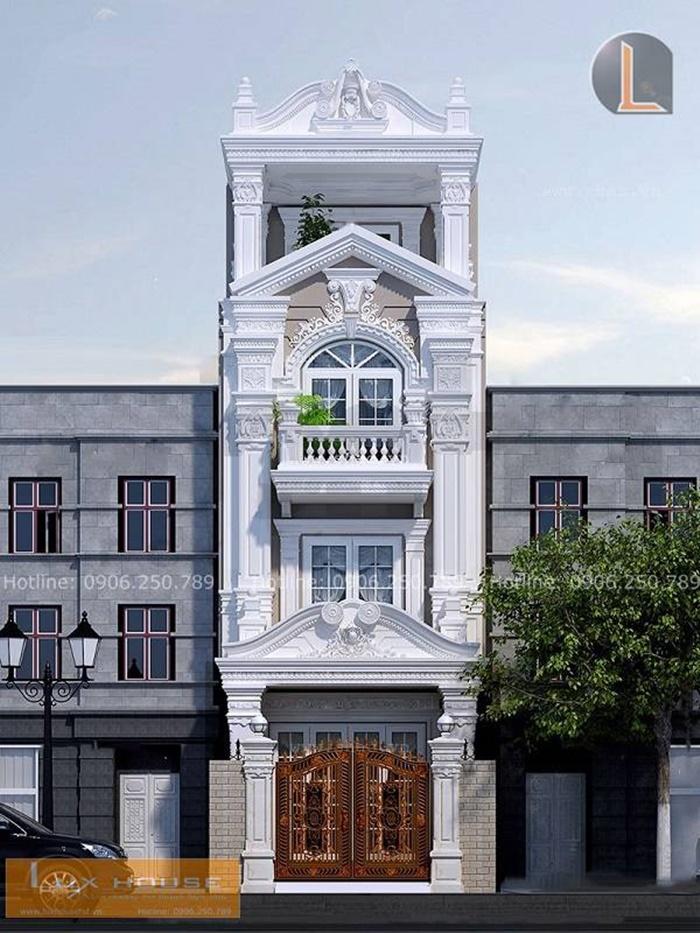 nhà phố 4 tầng tân cổ điển