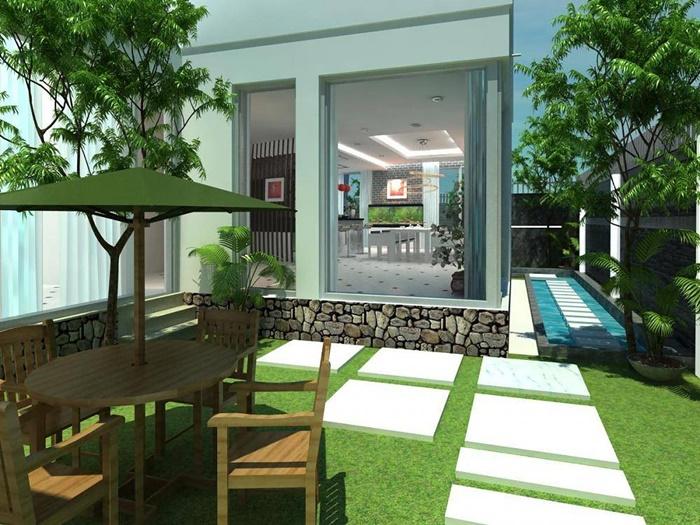biệt thự vườn 1 tầng hiện đại