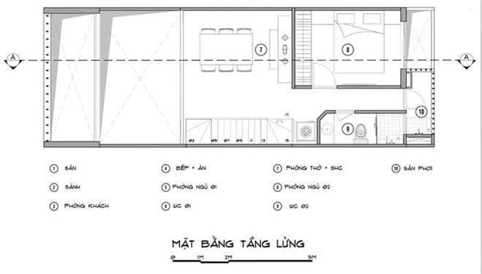 thiết kế nhà 2 tầng 1 lửng