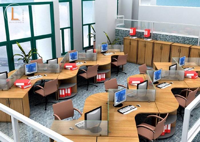 thiết kế nội thất văn phòng phong cách tối giản
