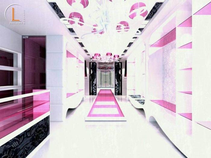 thiết kế showroom mỹ phẩm