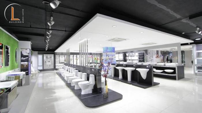 thiết kế showroom vật liệu xây dựng chí linh