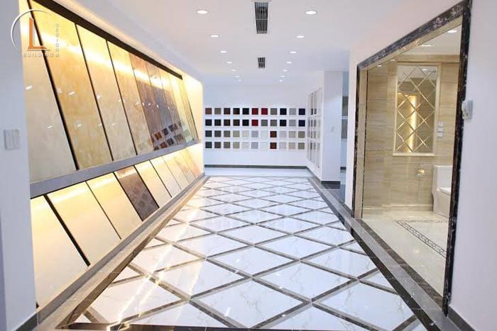 thiết kế showroom vật liệu xây dựng gần đây