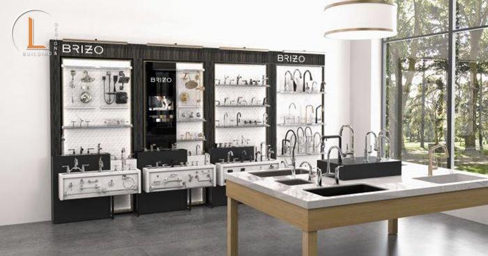 thiết kế showroom vật liệu xây dựng