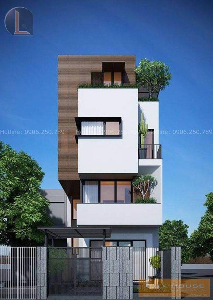 các mẫu nhà phố 4 tầng đẹp