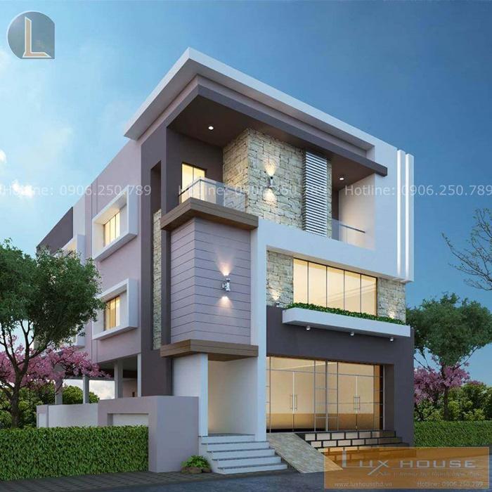 kiến trúc biệt thự hiện đại 3 tầng