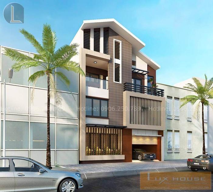 kiến trúc nhà phố mặt tiền 8m