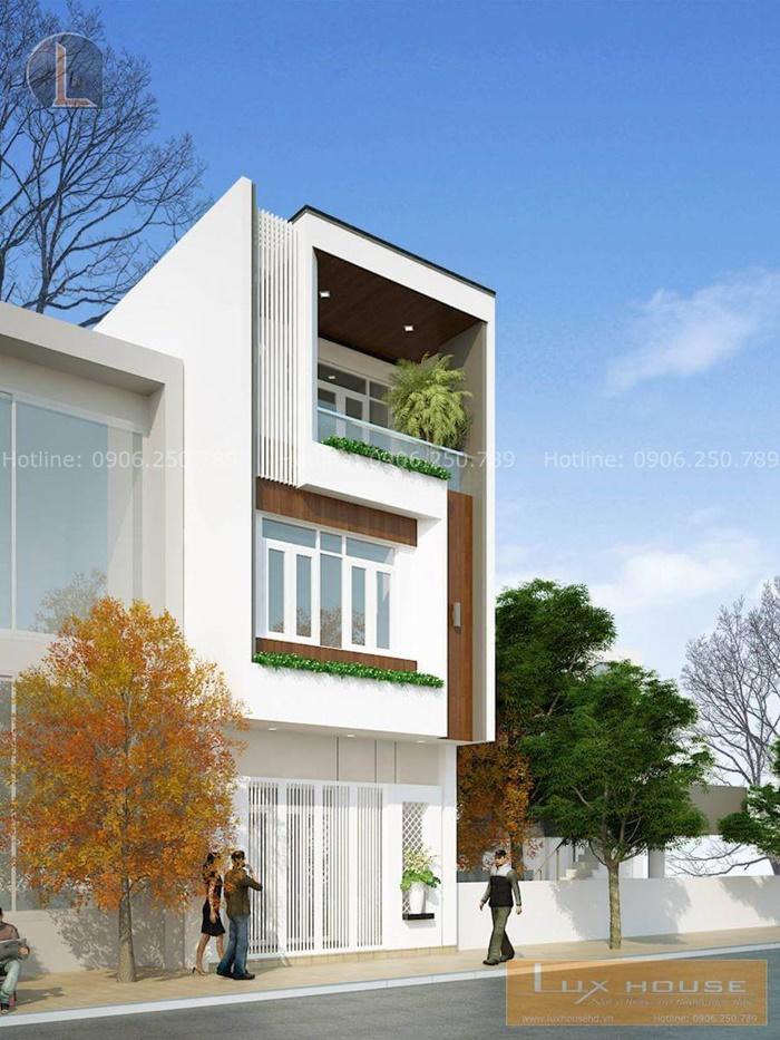 mẫu nhà hiện đại 3 tầng