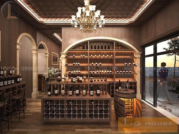 mẫu thiết kế showroom rượu