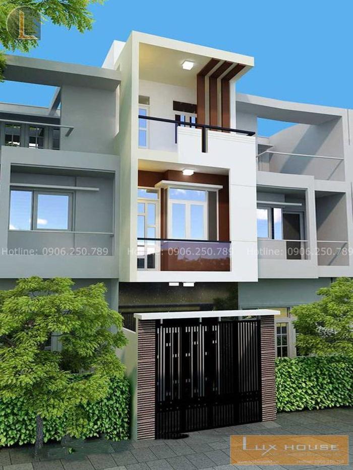 nhà hiện đại 3 tầng