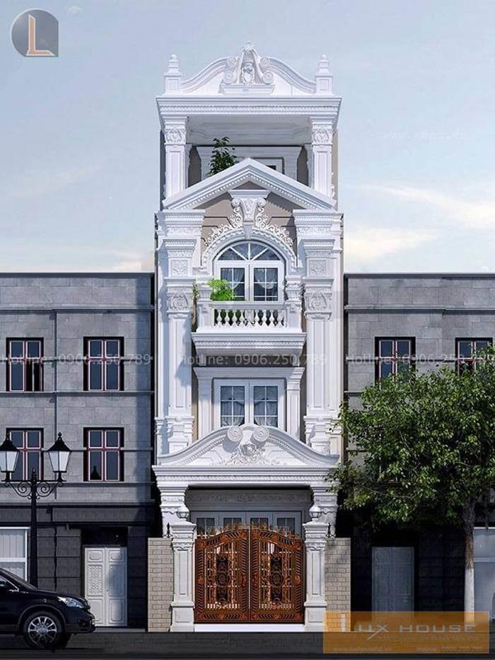 nhà phố cổ điển mặt tiền 5m