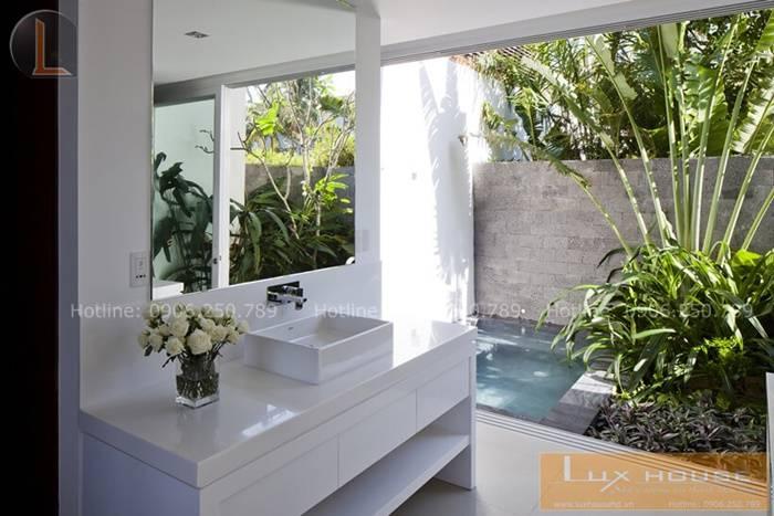 bồn rửa nội thất nhà vườn