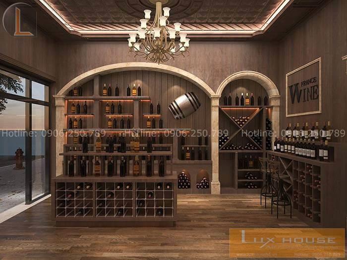 nội thất showroom rượu
