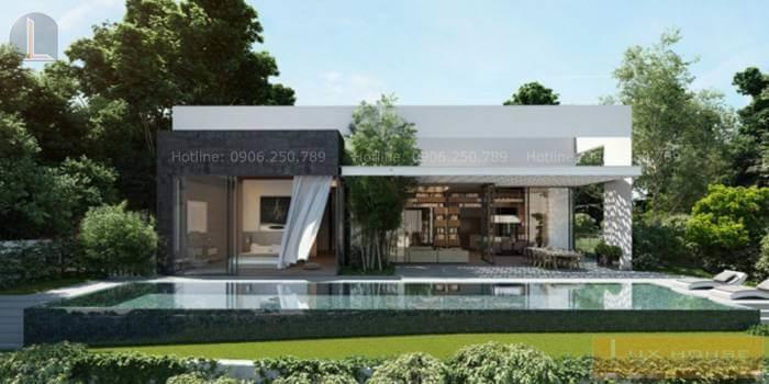 mẫu nhà biệt thự vườn 1 tầng