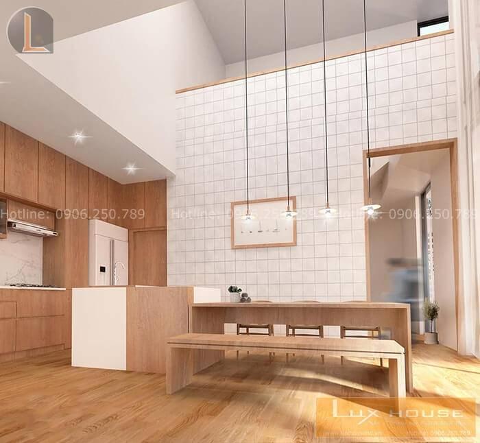 phòng bếp nhà liền kề