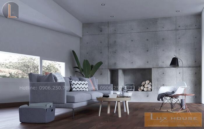 thiết kế nội thất chung cư không sơn