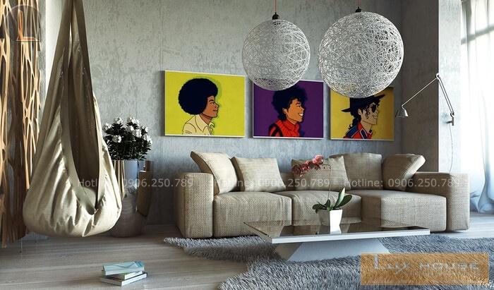 thiết kế nội thất không sơn