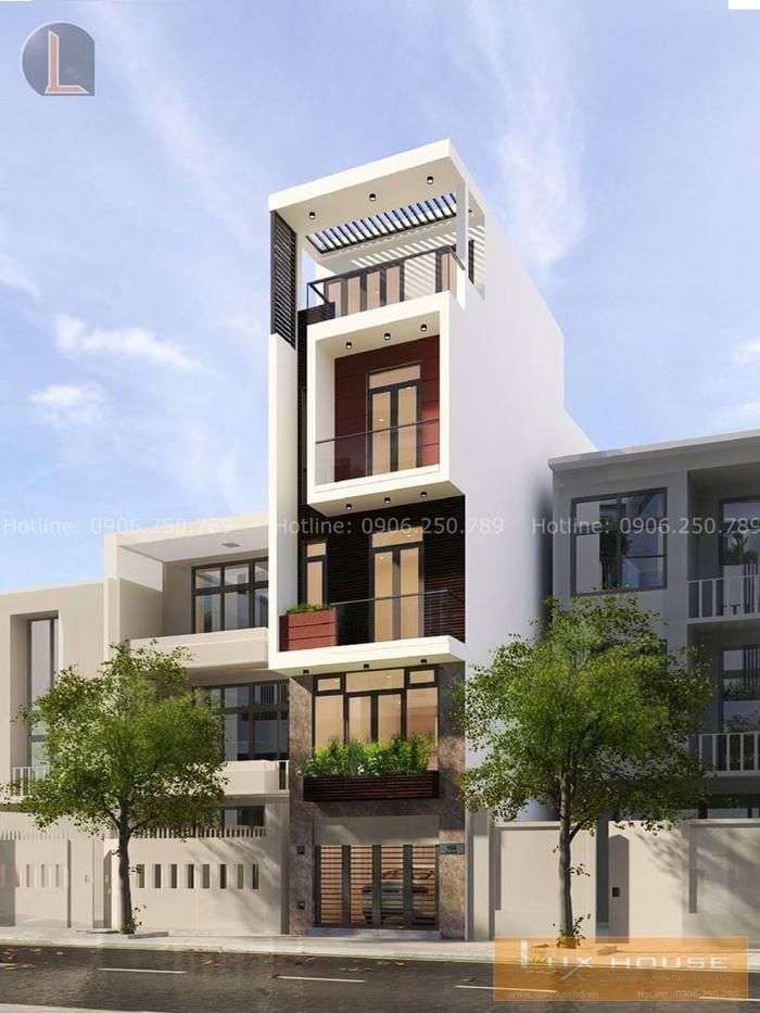 thiết kế nhà 3 tầng 1 lửng