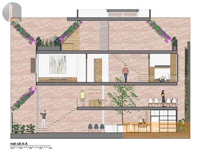 thiết kế nhà mặt phố 3 tầng