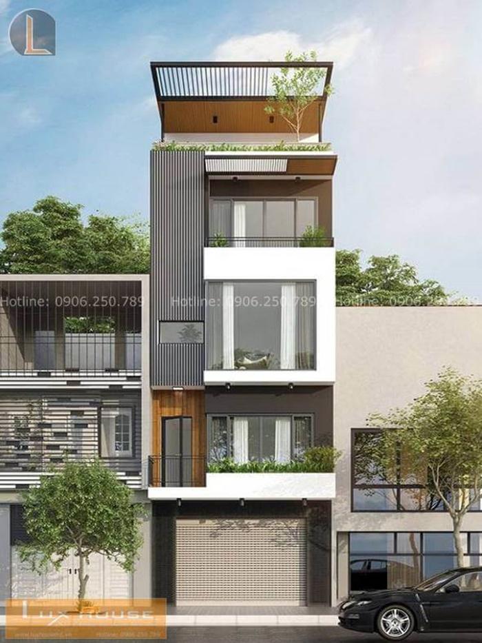 thiết kế nhà phố có gara