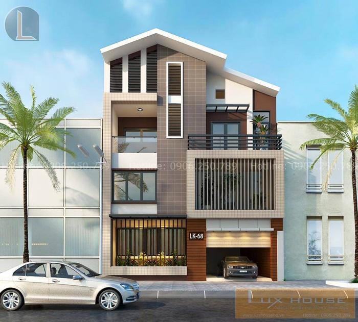 thiết kế nhà phố mặt tiền 8m