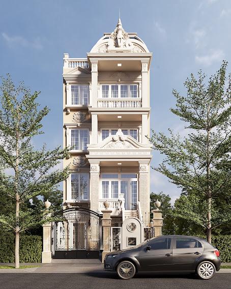 thiết kế nhà biệt thự tân cổ điển hải dương