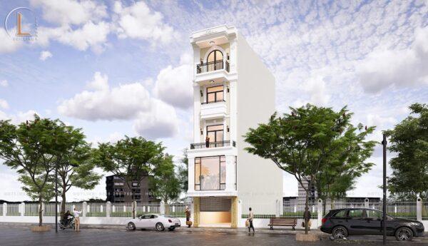 thiết kế nhà 5 tầng kết hợp kinh doanh
