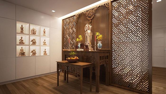 thiết kế nội thất phòng thờ hợp phong thủy