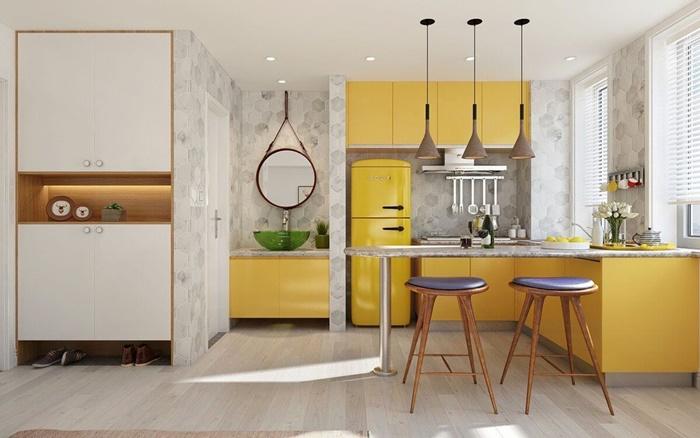 mẫu thiết kế nhà bếp đơn giản