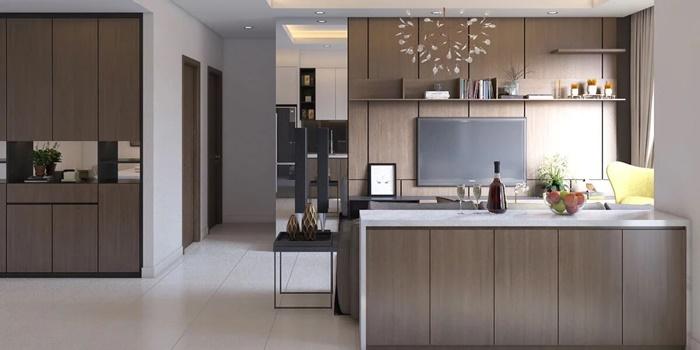 thiết kế phòng bếp cho nhà ống