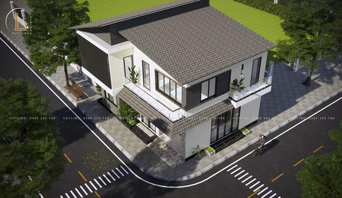 bản thiết kế nhà biệt thự 2 tầng