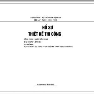 Ho So Thiet Ke Kien Truc Thi Cong