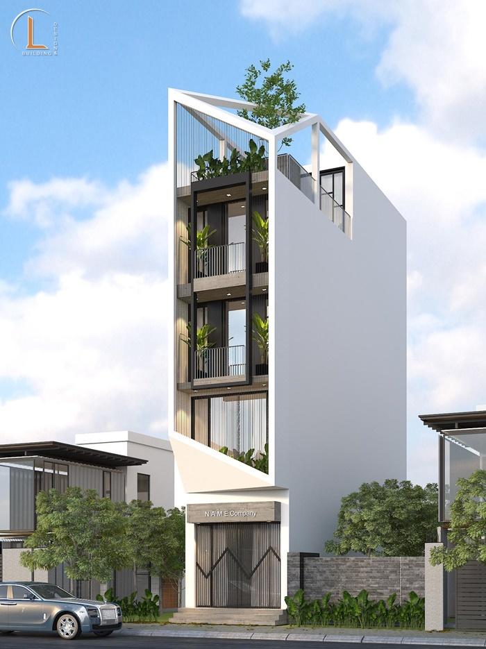 mẫu nhà 4 tầng 1 tum
