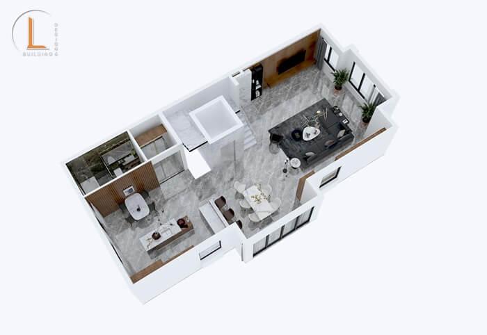 mẫu nhà phố 3 tầng mặt tiền 7m
