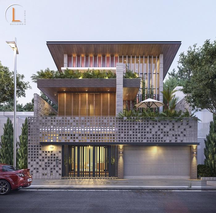 mẫu thiết kế nhà có gara