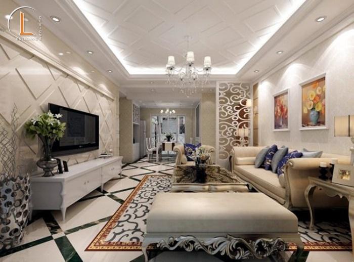 thiết kế nội thất nhà tân cổ điển