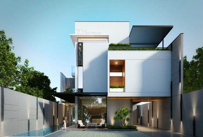 thiết kế biệt thự theo phong cách hiện đại