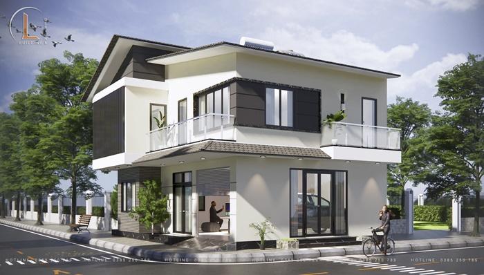 thiết kế nhà biệt thự 2 tầng hiện đại