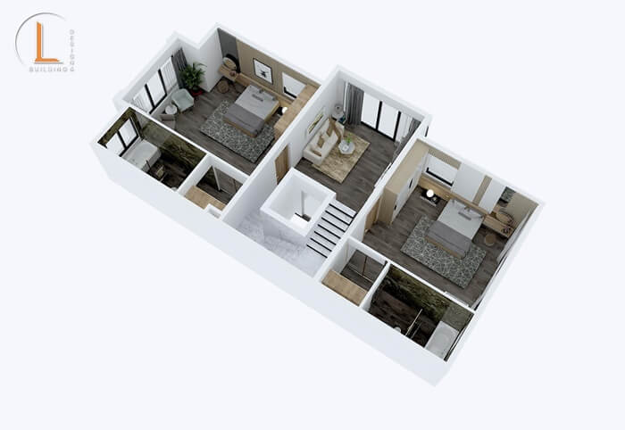 thiết kế nhà phố 3 tầng mặt tiền 7m