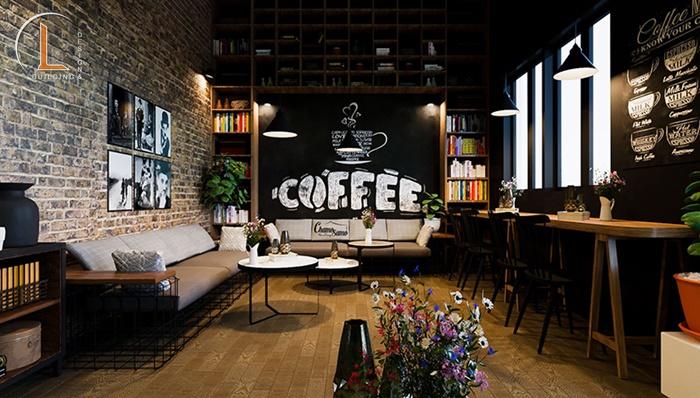 thiết kế nội thất cafe nhỏ