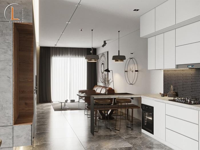 thiết kế nội thất căn hộ chung cư 60m2