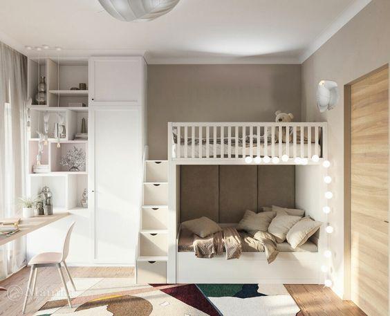 nội thất phòng ngủ trẻ em tối giản