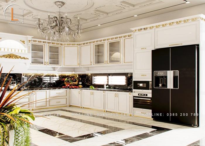 nội thất phòng bếp tân cổ điển