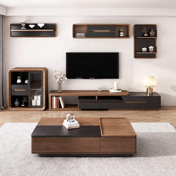 Kệ tivi đa năng cho phòng khách nhà ống