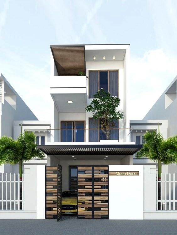 thiết kế nhà 3 tầng có gara