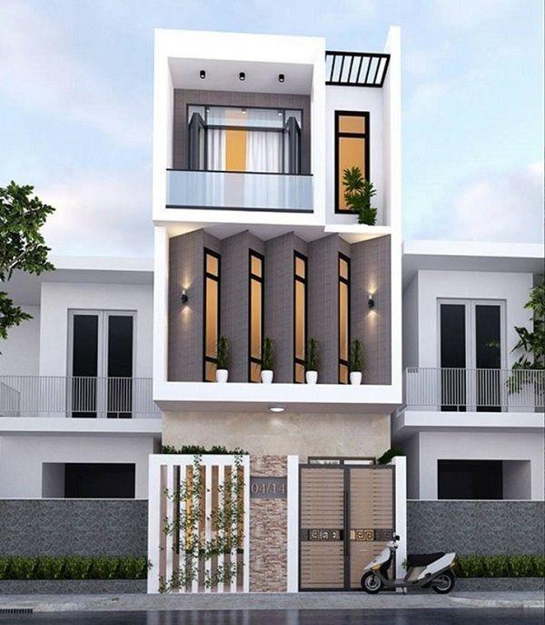 thiết kế nhà 3 tầng mái bằng